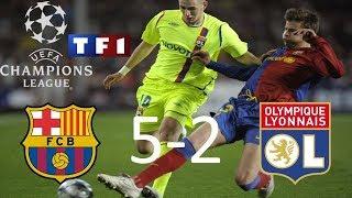 FC Barcelone 5-2 OL | 8ème de finale retour | Ligue des champions 2008/2009 | TF1/FR