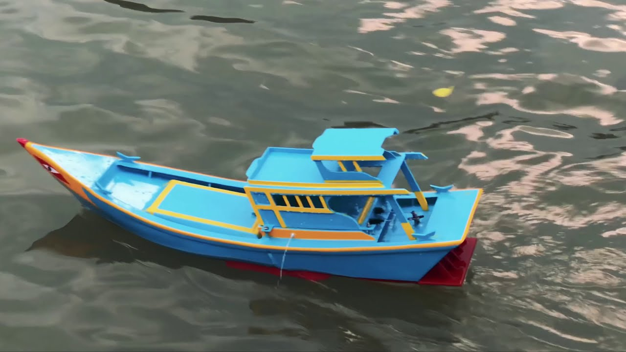 Chế Tàu mô hình tốc độ cao | High-speed model fishing vessel
