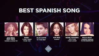 top 50 music awards 2017 best spanish song nominees