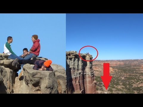 HANGING OUT ON 500 FOOT CLIFF!! Would you do it?