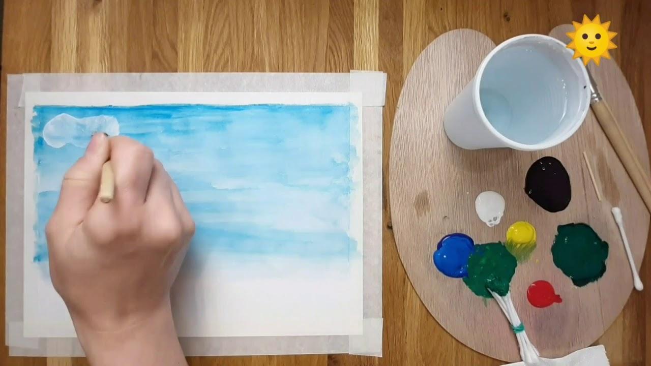 pictură de vierme pentru copii