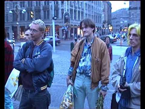 Legalize demostratie Cannabis vrij Bronkhorst Plomp Arnoud Adelaars op de Dam1998