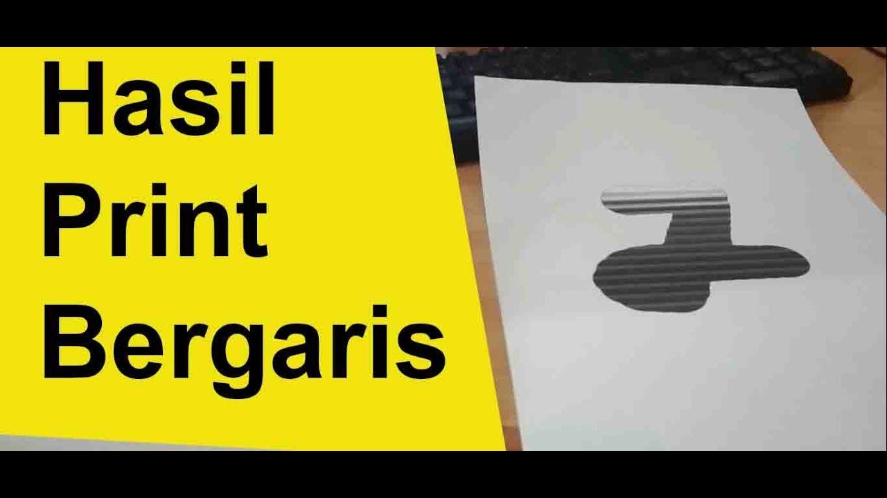 Cara Mengatasi Catridge Printer Canon Bergaris Youtube