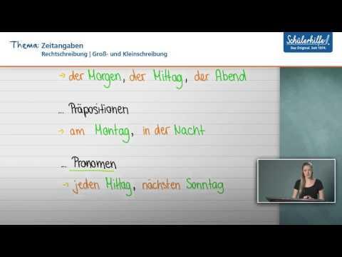 Groß Kleinschreibung Rechtschreibung Deutsch