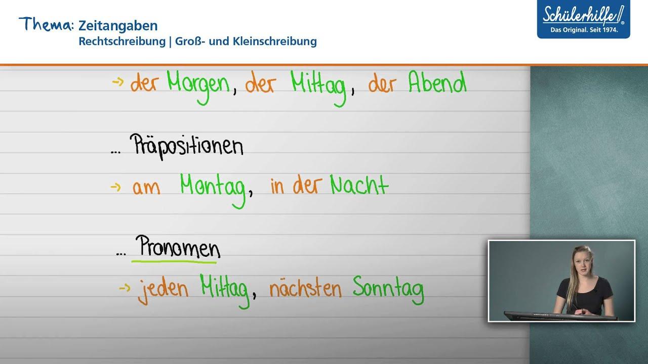 Groß Kleinschreibung Rechtschreibung Deutsch Schülerhilfe Lernvideo