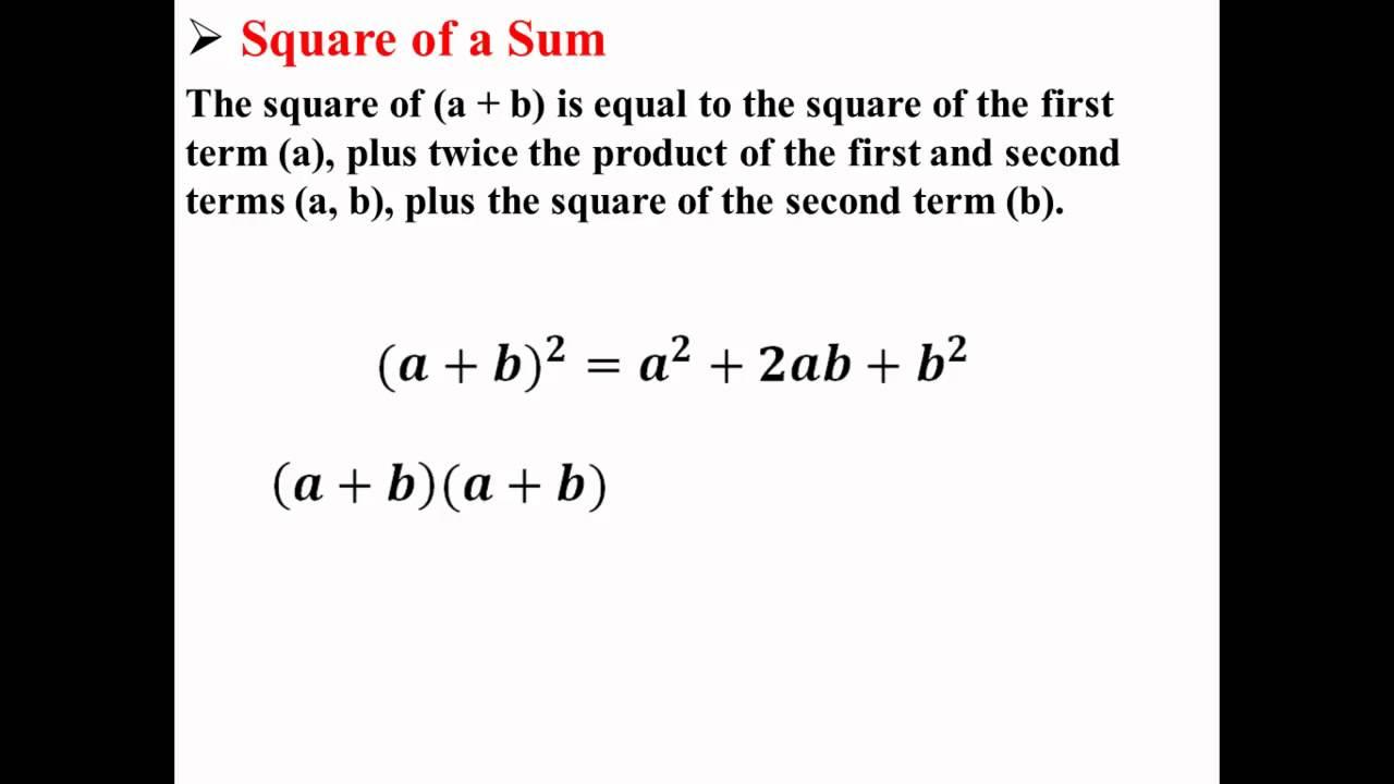 Square Of A Sum