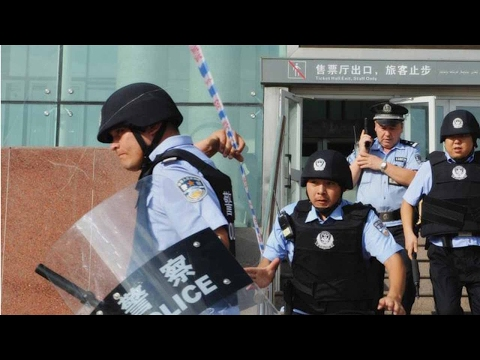 Three attackers shot dead by police in Xinjiang terrorist attack