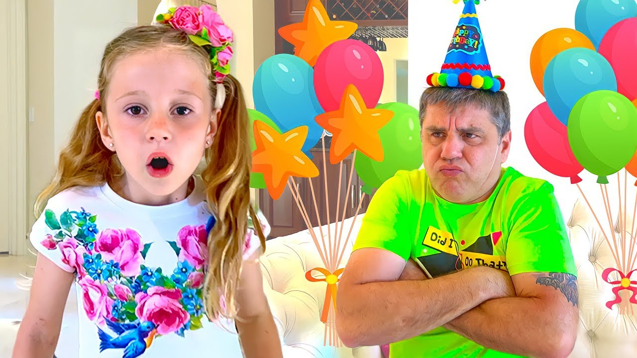 Nastya and Dad's Birthday