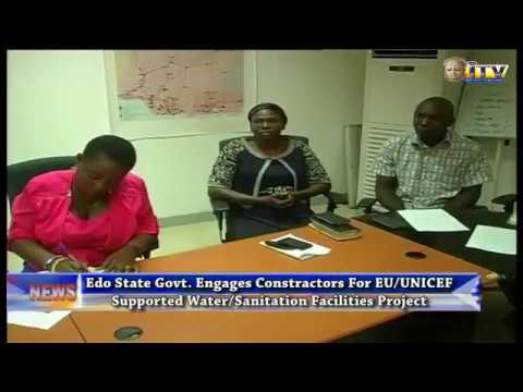 Edo State Govt. Signs Contract To Contruct EU/UNICEF Niger Delta Water And Sanitation Facilities