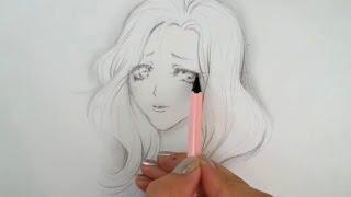sad drawing anime simple manga getdrawings