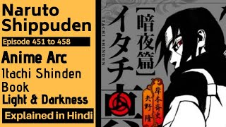 Itachi Shinden Book Naruto Shippuden Episode 451 to 458 Complete Anime Story Explained in Hindi