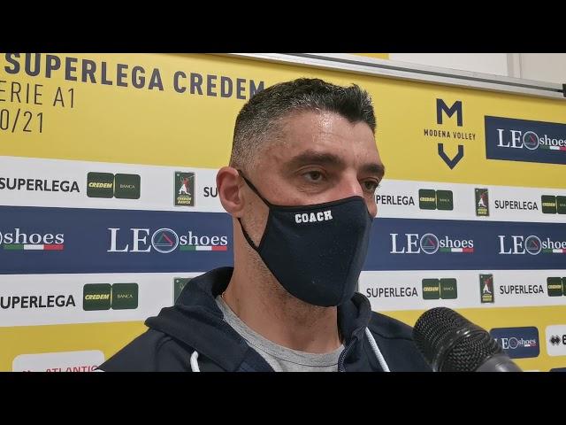 Andrea Giani pre match con Padova