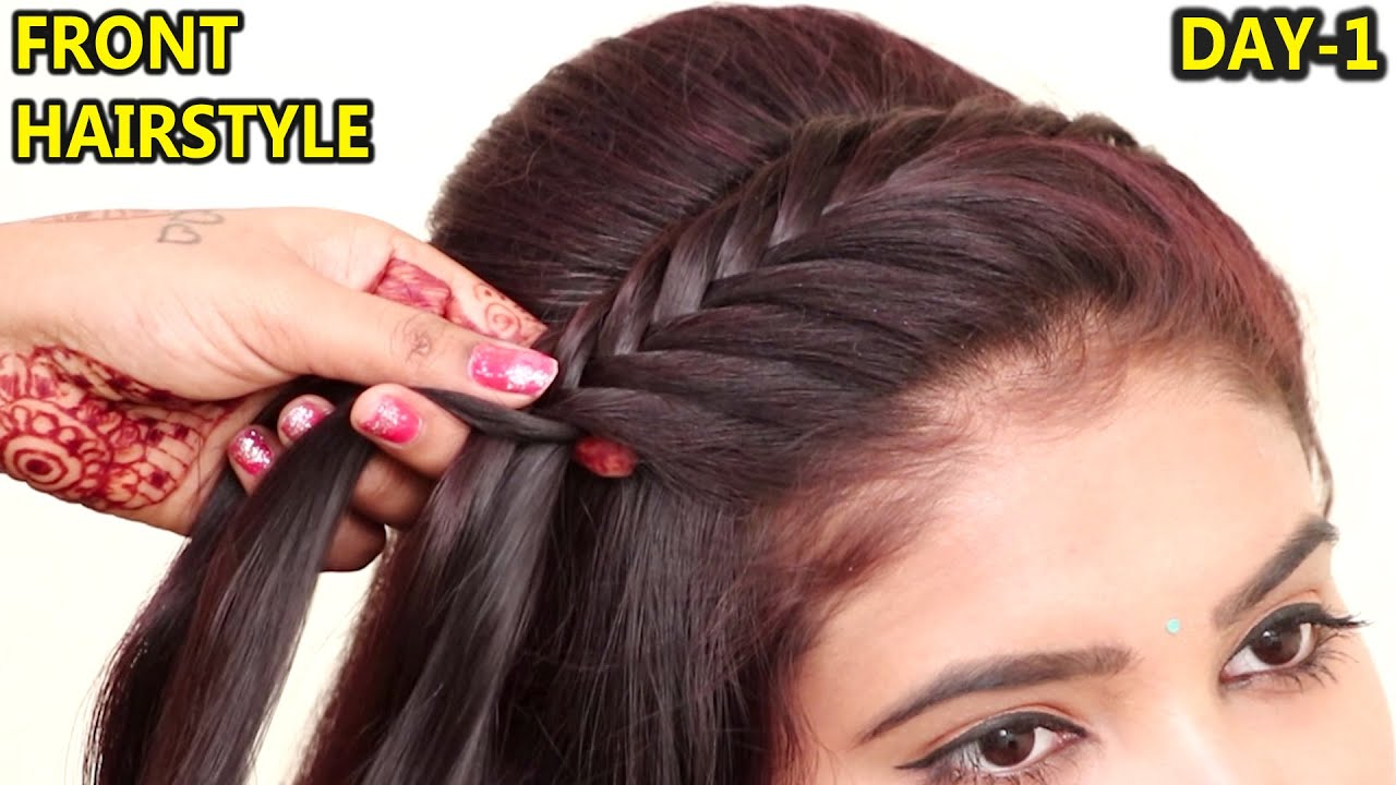 Most Beautiful Front Hairstyle for Girls   Front hairstyle   Easy party  hairstyle   hair style girls