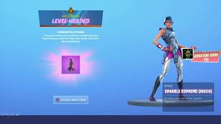 *NEW* SPARKLE SUPREME (DISCO) UNLOCKED in Fortnite Season X