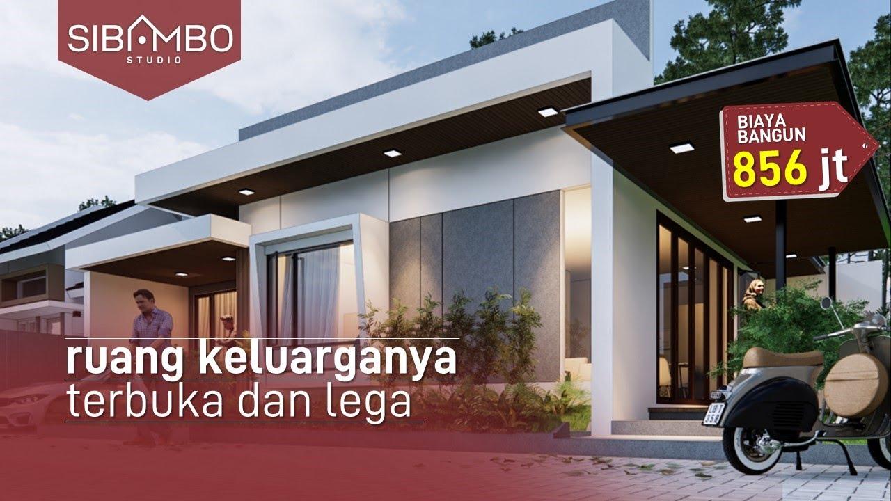 Desain Rumah Minimalis Modern Keren 1 Lantai 3 Kamar Tidur Di Lahan 13 X 13 Meter Youtube