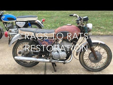 """1967 Kawasaki A1 250 """"Rags to Rats"""" Restoration"""