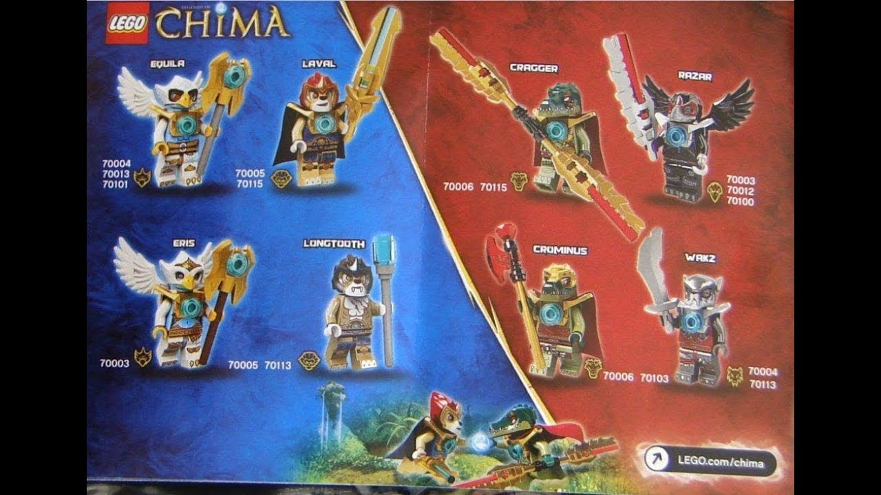 Lego chima les personnages youtube - Personnage lego chima ...