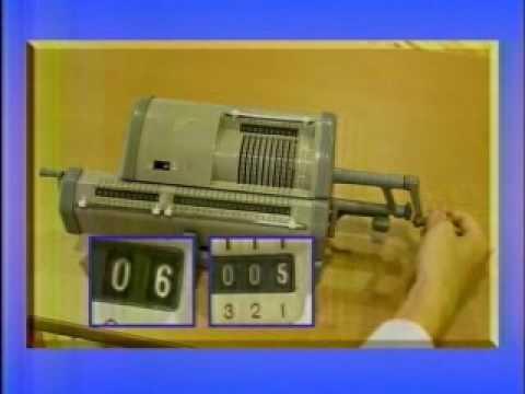 機械式計算機 - YouTube