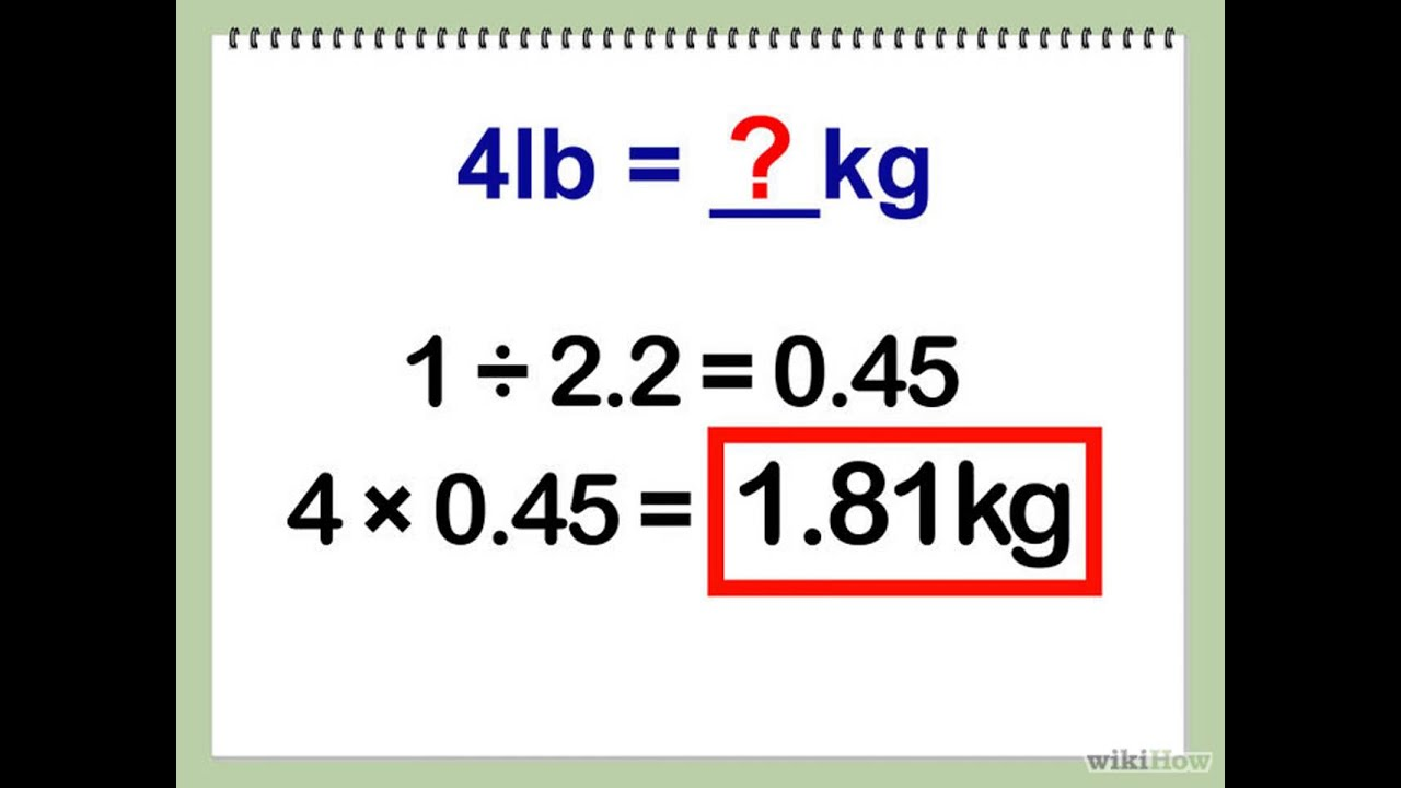 A libras transformar kilos como