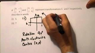 Using the Unit square to describe a Matrix