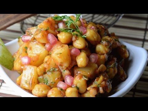 Aloo Channa Chaat - By Vahchef @ vahrehvah.com