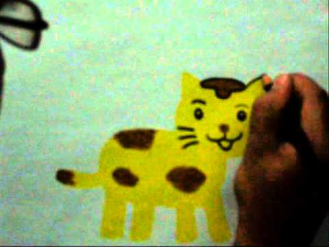 Teknik Menggambar Kucing Dengan Crayon Youtube