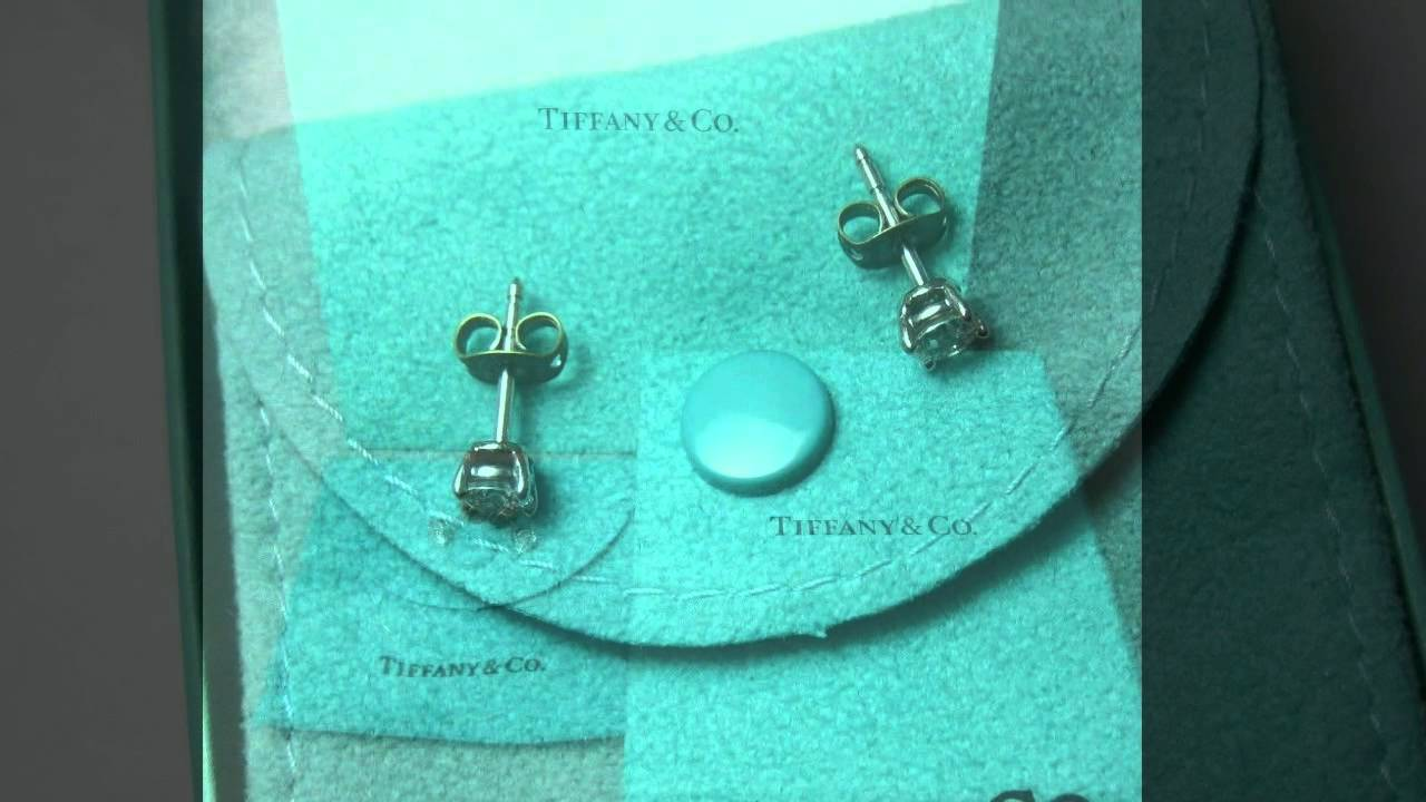 9d4aa3de1fa 1 2CTW .5CTW TIFFANY   CO MATCHING DIAMOND EARRINGS PLATINUM SETTING ...