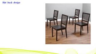 Slat Espresso Wooden Dining Chairs Set Of 4 . A Good