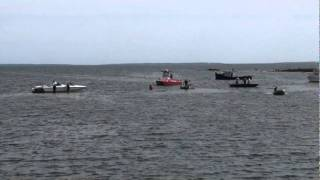 West Island - Cigarette boat runs aground on Father's Day