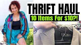 Thrift Haul | 10 Items For $10?!? | Thrifting Trends Fall 2018