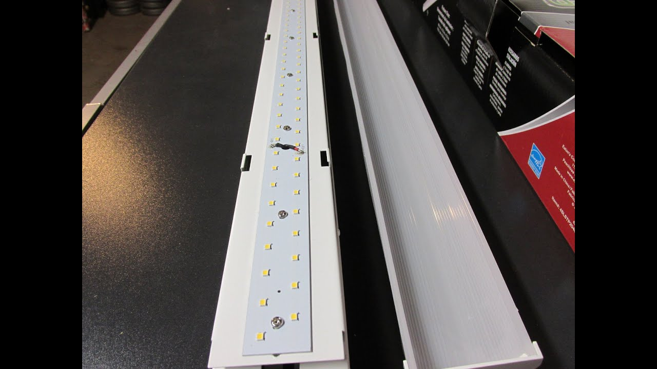 maxresdefault metalux 4 ft high output led striplight 4slstp2040dd 120v review  at cos-gaming.co