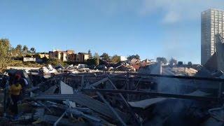 IMPRESIONANTE!!! Explosión en Hospital Materno Infantil de Cuajimalpa