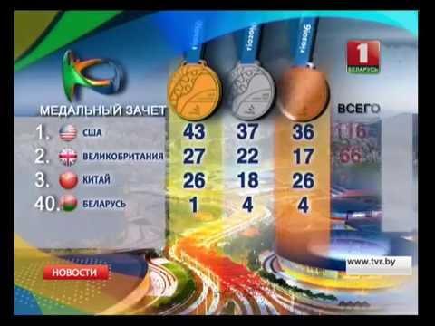 Медальный зачет Олимпиады в #Рио2016 21.08.2016