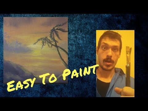 Sunset Beach Painting Demonstration In Oil