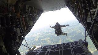 Tandem Tethered Parachute Jump, National Guard PATRIOT 2014 Exercise!