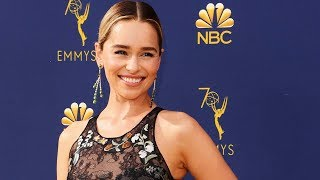 'Game of Thrones' star Emilia Clarke arrives to the Emmys