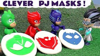 PJ Masks Play Doh logo rescue with Disney Cars Toys McQueen and Thomas The Tank Engine TT4U