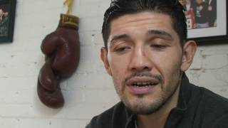 David Diaz trains for his WBC title fight
