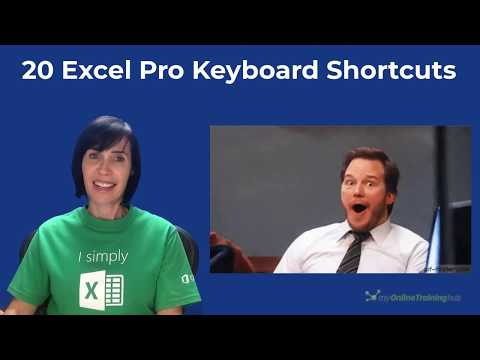 Excel Keyboard Shortcuts used by Pros