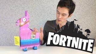 Обзор игрушки Fortnite Лама пиньята с аксессуарами