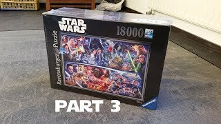 Star Wars Puzzle 18000 Pieces Part 3/4, Star Wars 18.000 Pieces Jigsaw Puzzle: Time lapse, part 3