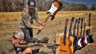 Сколько гитар выдержат выстрел .50 BMG | Разрушительное ранчо | Перевод Zёбры