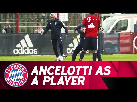 Carlo Ancelotti shows his player qualities
