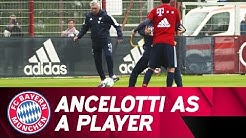 Carlo Ancelotti shows his player qualities