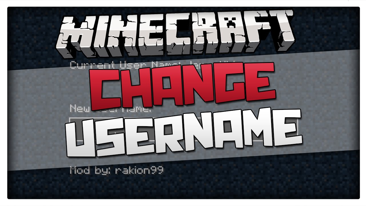 Minecraft CHANGE YOUR USERNAME Minecraft Mod Tutorial How To - Minecraft namen andern minecraft net