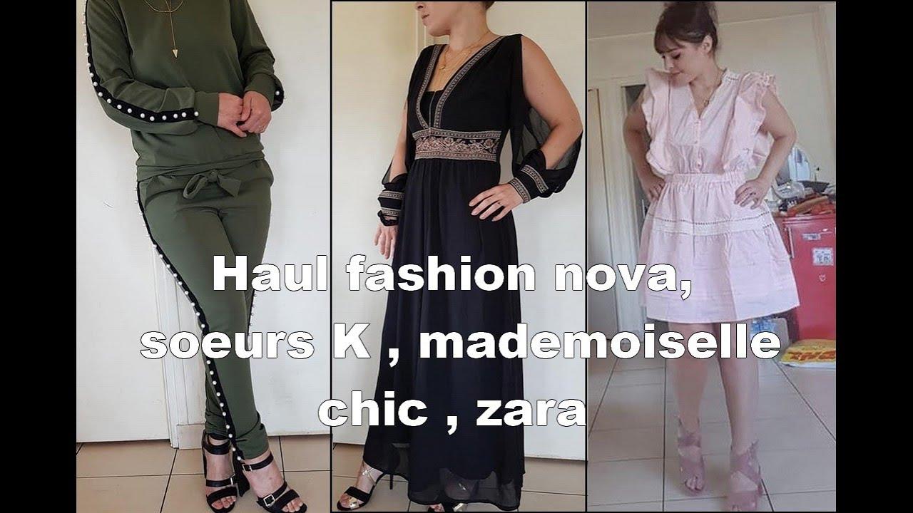 le moins cher célèbre marque de designer comment acheter haul soeurs k mademoiselle chic ofolyshop zara fashion nova