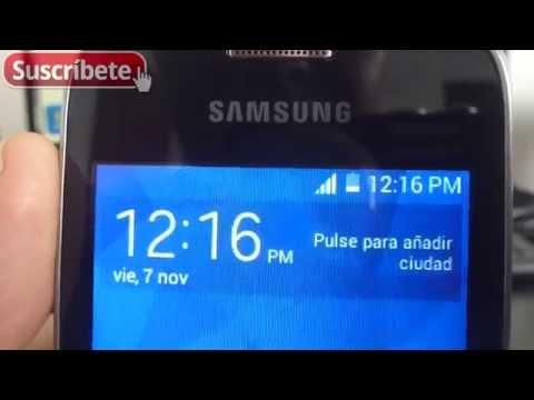 Samsung Galaxy Pocket 2 ver activar porcentaje de bateria restante español