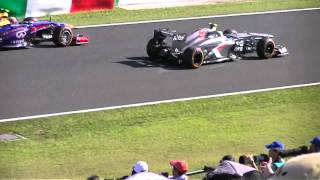2013 F1 世界選手権シリーズ第15戦 日本グランプリレース FP2 マルドナドクラッシュ