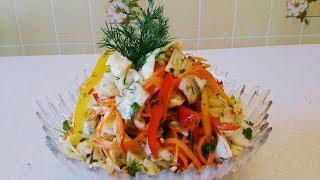 Karam va sabzidan Koreyscha salat/ Салат из капусты с морковью  по-Корейски