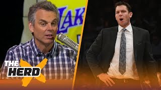 Colin Cowherd thinks we can stop blaming LaVar Ball for Luke Walton's failures | THE HERD